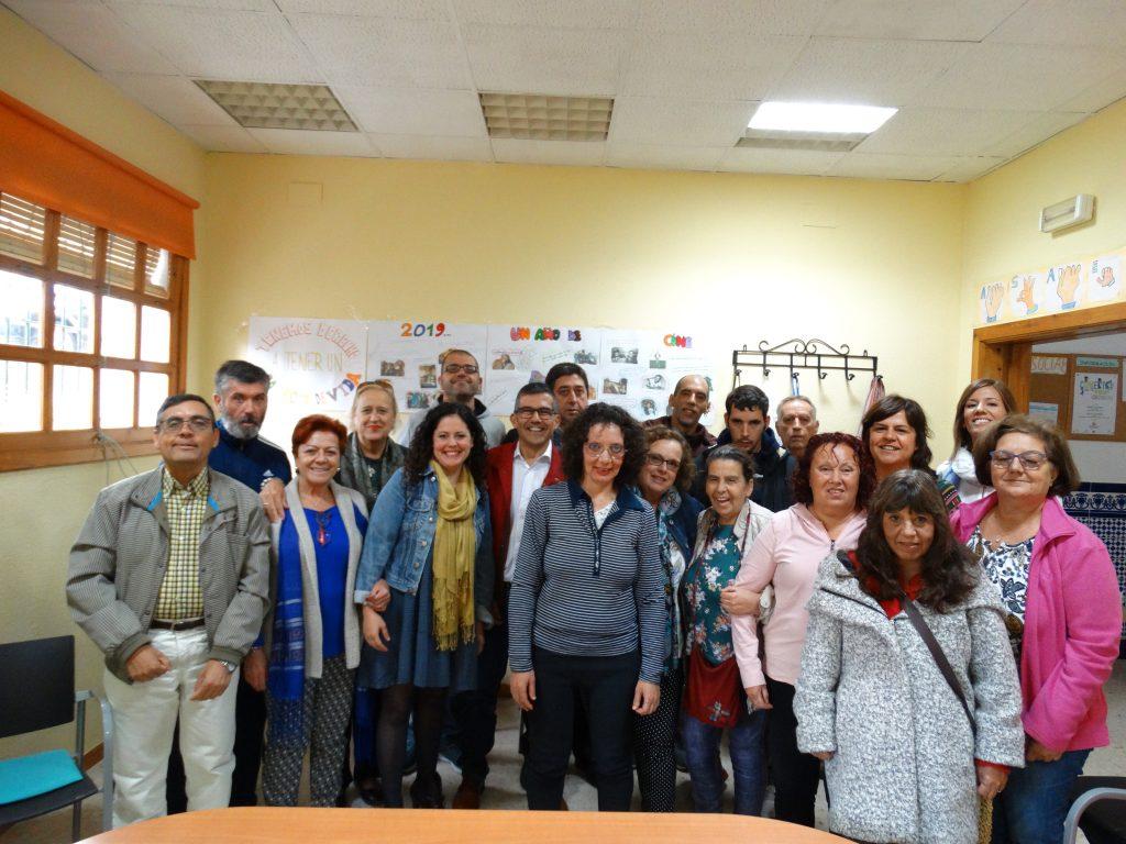 Visita de miembros del ayuntamiento de Alcalá de Guadaíra a la delegación de Asaenes